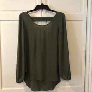 Express One Eleven Olive XS Blouse